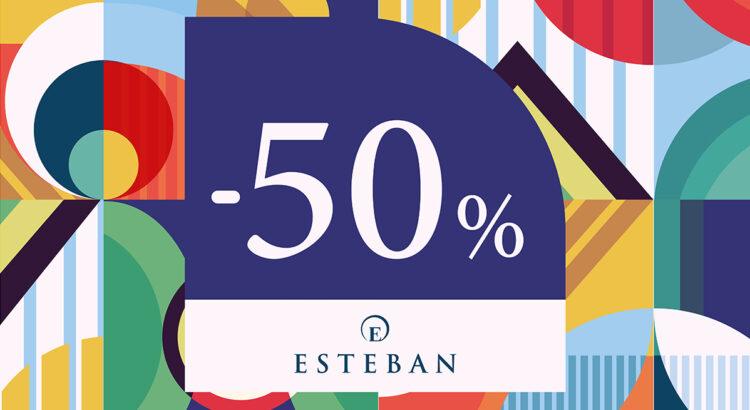 50% descuento en Esteban Orense